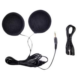 Wholesale Motorcycle Stereo Mp3 - Wholesale- 2017 New 3.5mm Motorbike Motorcycle Helmet Stereo Speakers Headphones Volume Control Earphone for MP3 GPS Phone Music