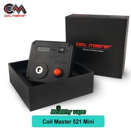 Wholesale Driving Range - Original Coil Master 521 Tab Mini 521 Tab Measuring Range 0.01 to 9.9ohm Driven by single 18650 battery
