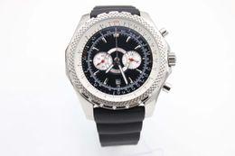 Wholesale Mechanical Chronograph Skeleton Watch - Luxury Brand Fine Quality Chronograph White Dial Watches Brown Luxury Brand New White DiBelt Silver Skeleton White Pointer Trend Dress Watch