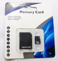 Wholesale Micro Sd Package - 100 pcs DHL 32GB 64GB 128GB 256GB Class 10 Micro SD TF Memory Card with Adapter Retail Package Flash SD SDHC Cards