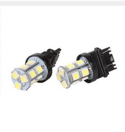 Wholesale 3157 Yellow Bulb - 3156 3157 13SMD 18SMD 27SMD 5050 Reverse Brake Turn Tail Back Up LED Light Bulb White Double Wire