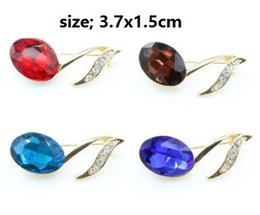 Wholesale Music Brooches - Gold-plated crystal diamond brooch brooches Music notes seven colors you can choose shipping free