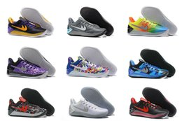 Wholesale Elite Football Boots - 15Color Drop Shipping Famous 2017 Kobe 12 A.D EP Bryant Kobes XII Elite Sports Mens Sports Basketball Shoes Sneakers Size 7-12