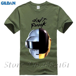 Wholesale musical sleeve - Daft Punk T Shirt Band T-Shirt Men Women Unisex Streatwear Clothing Top Plus Size T-Shirt Cotton Tee Musical Theme Print