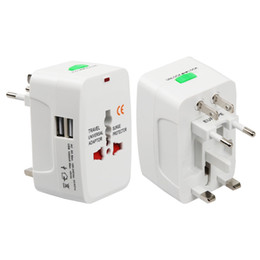 Wholesale international plug sockets - Electric Plug power Socket Adapter International travel adapter Universal Travel Socket USB Power Charger Converter EU UK US AU