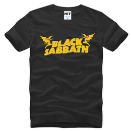 classic rock shirts Coupons - Summer Classic Metal Rock & Roll Band Black Sabbath T Shirt Men Fashion Short Sleeve Cotton Men's Hip Hop T-shirt Tops Tees