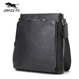 Wholesale Ox Bag - Wholesale- CROSS OX 2016 Summer Design Genuine Leather Men's Cross Body Bag Shoulder Bags For Men Messenger Bag Business Portfolio SL367M