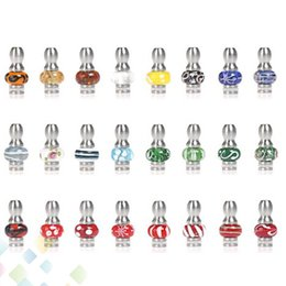 Wholesale Ego Cartomizers - Magic 510 Vapor Stainless Steel with Glass Bead Drip Tips EGO Glass Mouthpieces Fit 510 Vivi nova Dct cartomizers Clearomizers E-Cigarette
