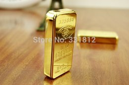 Wholesale Thin Flame Lighter - Wholesale- 1pc 2015 new gold lighter individuality creative ultra-thin metal gas flame cigarette lighter