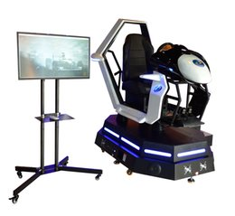 Wholesale Car Racing Chair - Hot sale golf simulator vr, 4d chair racing simulator with new racing game, 9d vr racing car with promotion