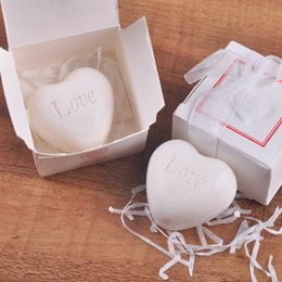 Wholesale Souvenirs For Birthdays - Handmade Scented Mini White Love Heart Shape Soap For Wedding Party Birthday Souvenirs Gifts Favor white box packing