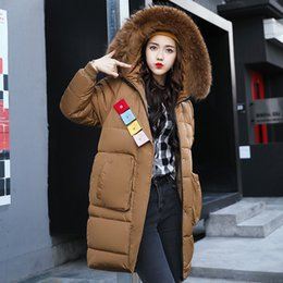 Wholesale Girls Size Down Coat - Winter Coat Women Girls Long Jacket Down Pakras Fur Collar Snow Clothes Warm Outwear Outdoor Overcoat Hooded New Fashion Plus Size XXXL