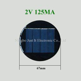 200pcs / lot Mini Round Solar Cell 2V 125mA Diametro 67mm da rotondo solare fornitori