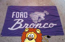 Wholesale Automobile Brands - Ford Bronco Automobile Exhibition flag,car brand logo banner ,90X150CM size,100% polyster