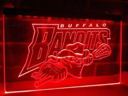 Wholesale Led Sign Lighting Bars - LD171B- Buffalo Bandits NLL Lacrosse LED Neon Light Sign