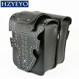 HZYEYO NEW Moto Faux En Cuir Saddlebags Sac De Selle Gauche Droite Côtés Sacs D'outil Pour Vintage Style Magnet Boucle D818 ? partir de fabricateur