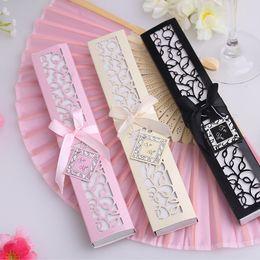 Wholesale Luxurious Wedding Favors - Wholesale- Luxurious Silk Fan in Elegant Gift Box Wedding Favors +Lowest price in 50pcs lot