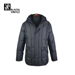 Wholesale Duck Knitting - BLACK VINYL Thick Winter Down Jacket Men Warm New Fashion Brand Clothing Top Quality Long Male 70% White Duck Down Coat