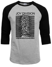 Wholesale Rock Roll Shirts - Wholesale- 100% Cotton Mens Top Joy Division T Shirts Men Unknown Pleasure Post Punk Gothic t shirt Rock And Roll Hot Summer Autumn Man Tee