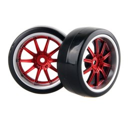 Wholesale Hsp Tires - 4x RC Hard Tires Tyre Plastic Wheel Rim HSP HPI 1:10 On-Road Drift Car 9087-6015