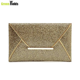 Wholesale Blue Shiny Bags - Wholesale-2016 New Fashion style women clutch eveing bag gold shiny hanbag evening bag envelope handbag evening bag bolsas mujer XA210B