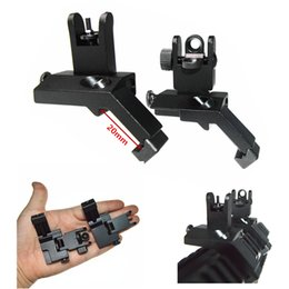Wholesale Sight 45 Degree - 1 Pair Tactical BUIS Front and Rear Side Sight Flip Up 45 Degree Rapid Transition Iron Sights of Hunting Gun Accessories