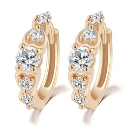 Wholesale Rhinestone Cc Earrings - High quality fashion stud Earrings cc women's Fashion Crystal Rhinestone CZ Gold Plated earrings For ladies luxury brand Jewelry Hot sale
