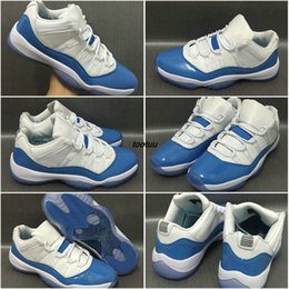 Wholesale North Table - Air Retro 11 XI Mens Low North Carolina Blue Men Basketball Shoes Sneakers 23 Jump man Retros 11s Basket Ball Sports Shoes White Boosts