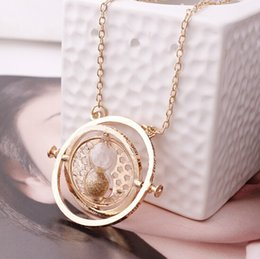 Wholesale Valentine Times - Wholesale- 5 Color Sand Gold Color Time Turner Necklace Hourglass Fashion Vintage Hermione Granger Pendant Valentines Day Gift wholesale