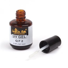 Wholesale Nail Systems Uv Gel - Wholesale-14ml Non-sticky Nail Polish Top Coat High Quality Nail Gel For Nail Art System Excellent Non Soak Off UV Gel Top Coat