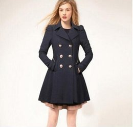 Wholesale Trench Coats For Women Sale - Hot Sale! Spring Trench Coat Slim Fit Women Elegant Double Breasted Dress Trench Coat for Women Windbreaker