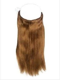 Wholesale Cheap Blonde Hair Extensions Dark - 2017 Hot Sale Cheap Grade 7A Human Remy Virgin Flip in Halo Hair Extensions, 100% Natural Straight Human Hair Fish Line Hair Extension