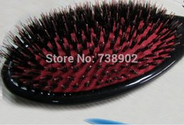 Wholesale Lowest Price Hair Extensions - Wholesale- Hair Salon Products25*8cm wild boar bristle Comb Excellent hair extension hairbrush Dropshipping Lower Price