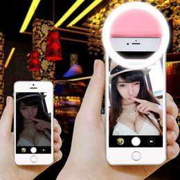 UK camera moblie - Rechargeable USB Charge with battery Selfie Portable LED Ring Fill Light Camera for iPhone7 7plues 6 5s 4 Android moblie Phone