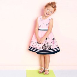 Wholesale Puffy Clothing - Pink Baby Kids Girls Sleeveless Princess Party Puffy Anime Gown Elegant Dress 2-7T High Quality Clothes