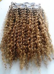 2019 desenho, cacheados, cabelo Humano brasileiro virgem remy cabelo encaracolado trama natural onda tece loira não processada 270 # clipe duplo desenhado em extensões