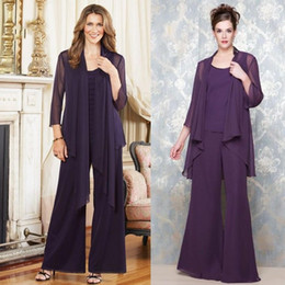 Wholesale Sexy Red Suit Jacket - Purple Chiffon Dresses Cheap Price With Jacket Elegant Floor Length Suit With Jacket Beautiful Hot Sale Sexy Mother's Formal Evening