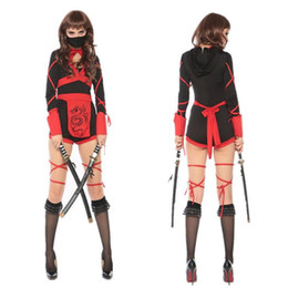 Wholesale Lady Masquerade - Sexy Women Lady Ninja Cosplay Costume Stage Performance Japan Warrior Costumes Halloween Masquerade Party Dress Supplies