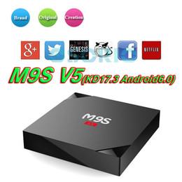 Wholesale Tv Box Multimedia Player - Android 6.0 OTT TV BOX M9S V5 Rockchip RK3229 1G 8G H.265 Multimedia Player VS MXQ Pro A95X R1 Amlogic S905X S912