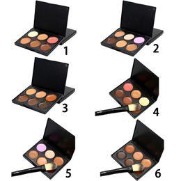 Wholesale Corrector Palette - Wholesale- 6 Colors Pro Concealer Face Primer Cream Contour Palette Make Up Facial Contouring Palette Makeup Corrector Base Palette LM93