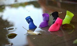 Wholesale Socks For Rain Boots - Cool Puppy dog rain boots Pet Dog Puppy Cat Waterproof Rubber Snow Shoes for Small Large Dog New Pet Shoes