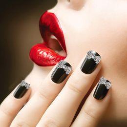 Wholesale Crystal Nail Art Designs - Crystal Rhinestone Bowknot 3D Nail Art Slices Pretty Decorations Design 10X Alloy Nail Art DIY Decorations