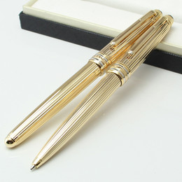Wholesale Black Cruises - Luxury MT Cruise Collection Platinum Line Braid gold ballpoint pen Germany Montel pen for writing with serial number