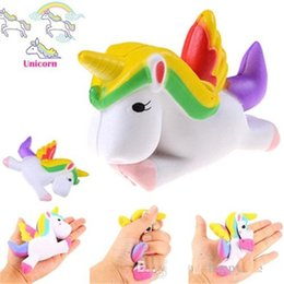 Wholesale Kids Phone Toys - New Kawaii Squishy Unicorn Slow Rising Squeeze Toy Collectibles Cute Phone Straps Pendant Bread Cake Cream Scented Kids Gift b1444