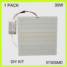 Wholesale ceiling boards - Square easy install 30W surface led ceiling light kits mounted techo de LED ceiling light board LED panel 22*22cm 220V for adversing light
