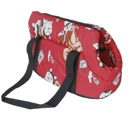 Argentina Bolso de viaje suave rojo caliente Bolso de hombro Bolso para perro / gato Tamaño Pequeño Suministro