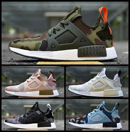 Wholesale Light Brown Colour Shoes Sports - new NMD Runner Primeknit XR1 running shoes top multiple Colour man women shoes zebra stripes red blue sport shoes Runings nmd R1 sneaker