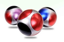 Wholesale Football Stress Balls - New Fidget Toy football round shape Hand Spinner Metal Finger Stress Spinners Decompression Anxiety Toys 5 bearings ball fidget spinner