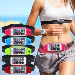 Wholesale Waist Bag Mobile - Universal Sport Accessories Gym Waterproof Waist Bag Belt Pouch Mobile Phone Case For iPhone 6 6s 7 Plus 5 5s 5c Cover