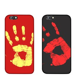 Wholesale Temperature Color Change Plastic - New Thermosensitive color change temperature phone case For iPhone X 8 7 6s plus 5 PU leather+PC material Heat sensitive phone back cover